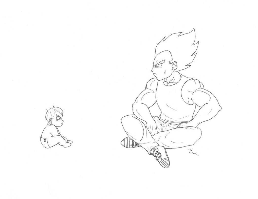 1018x785 Vegeta And Baby Trunks By Cerenshine