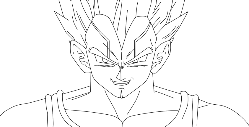 843x432 Baby Vegeta Lineart By Risingflame12