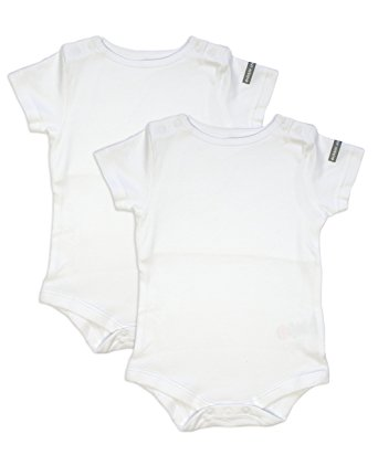 342x412 Dribble Stop Top Unisex Baby Packet 2 Vest, White, 18 24 Months