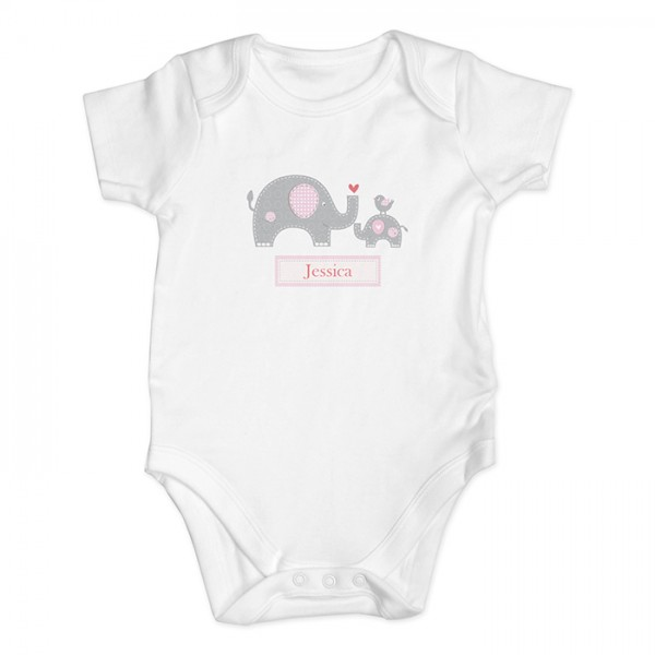600x600 Pink Elephant Baby Vest Baby Vest, Pink Elephant And Elephant Baby