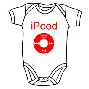 300x300 Baby's Bodysuit I Pood Baby Bodysuits Slogan Baby