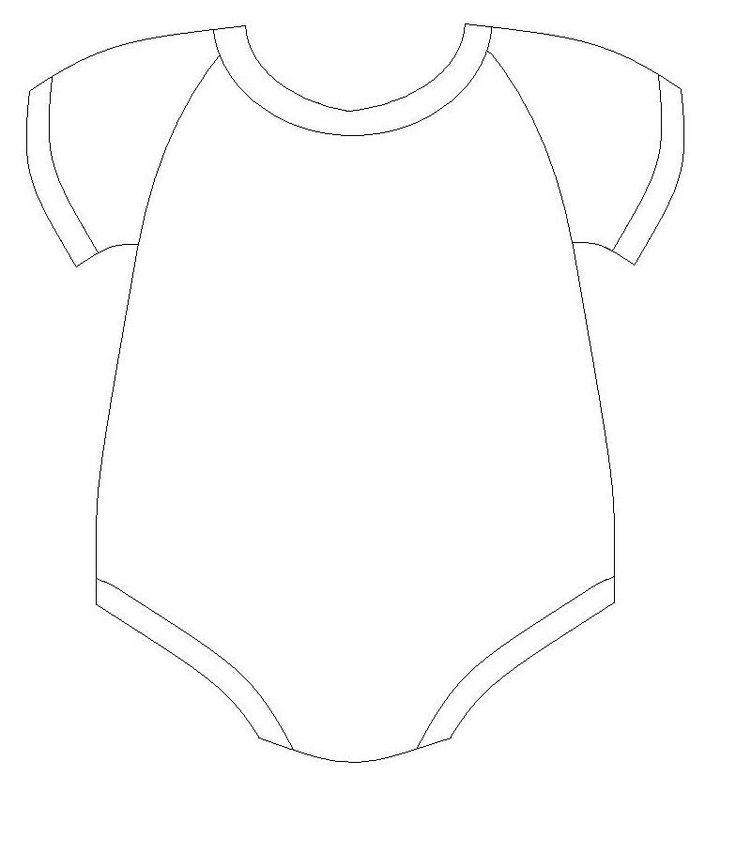 736x852 Free Printable Baby Onesie Template