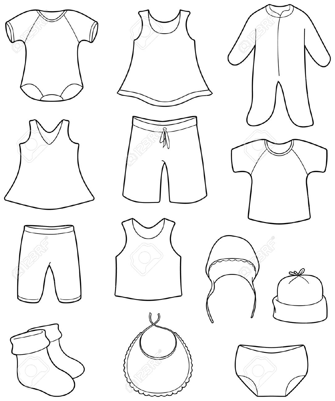 1085x1300 Baby Clothes Clipart Black And White