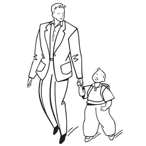 300x300 Father And Son Coloring Pages