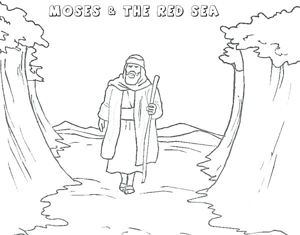 600x469 Free Printable Coloring Pages Walking Through Red Sea Page Baby