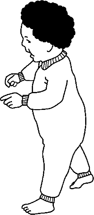 393x900 Infant Walking Coloring Page