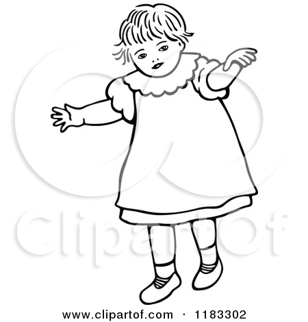 450x470 Baby Walking Clipart Black And White