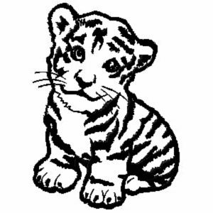 300x300 Tiger Animal Coloring Pages Baby Jungle Animals Coloring Pages