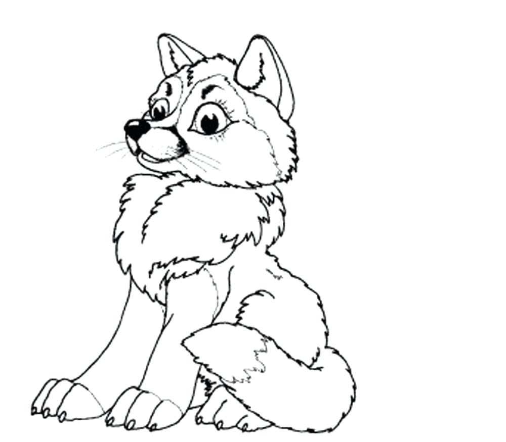 baby wolf drawing at getdrawings com free for personal use baby