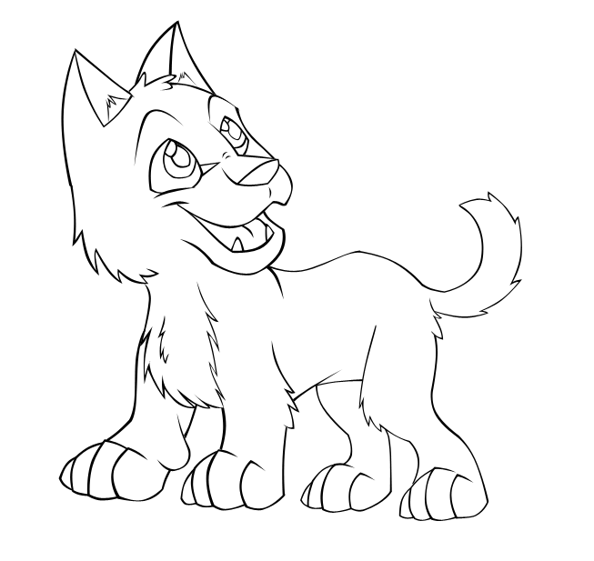 653x617 Baby Wolf Coloring Pages Cute Wolf Pup Drawing Images Amp Pictures