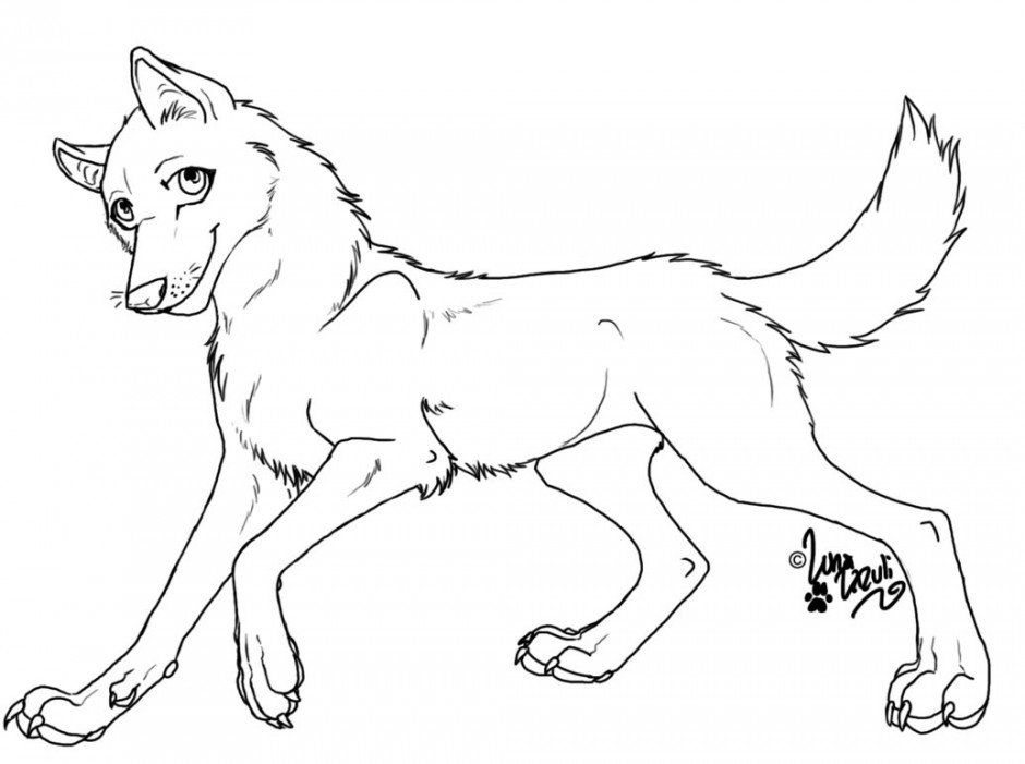 940x701 Baby Wolf Coloring Pages Many Interesting Cliparts