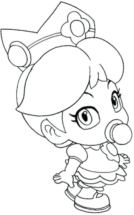 559x900 Mario Color Pages Baby Princess Peach Coloring Pages Mario Baby