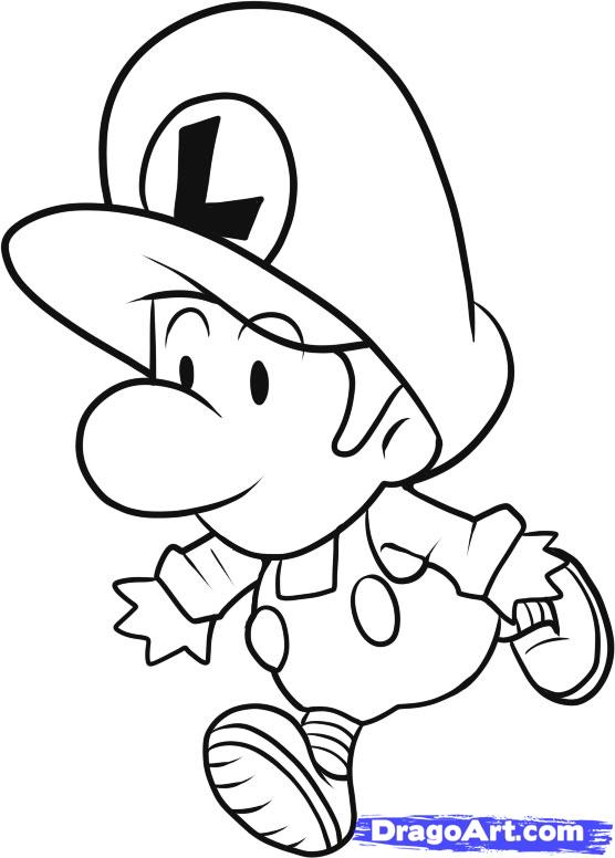 556x776 Baby Mario Coloring Pages To Print Cartoons Gt