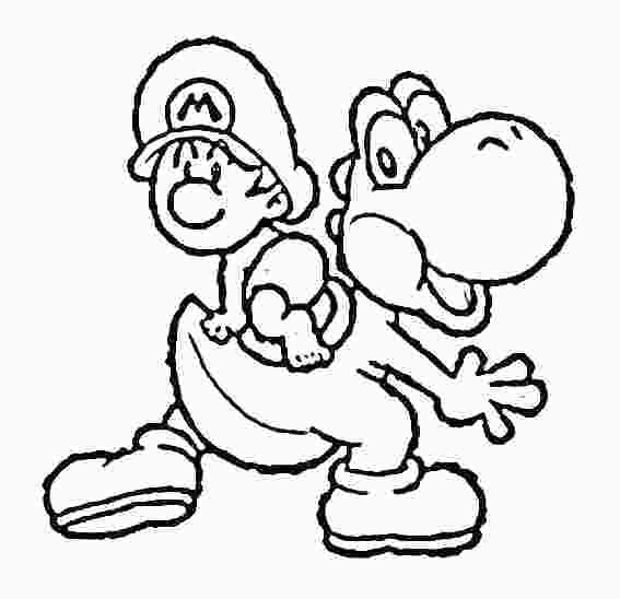 567x548 Yoshi Coloring Pages To Print Baby Coloring Pages To Print