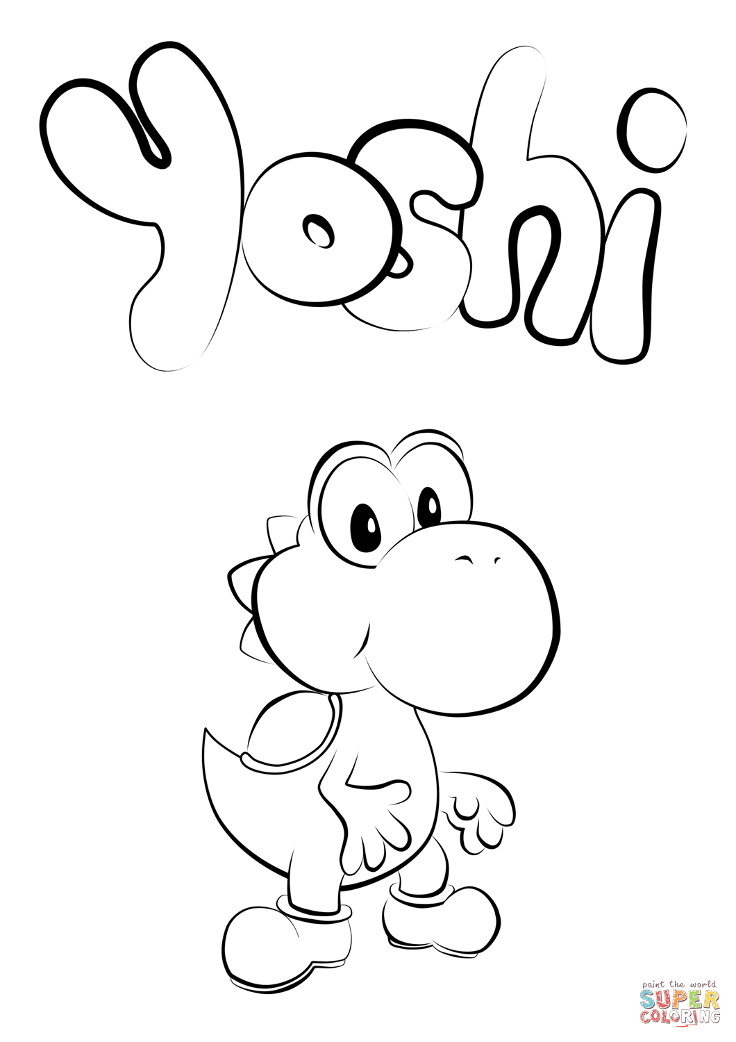 1060x1500 Baby Yoshi Coloring Page Free Printable Pages Inside