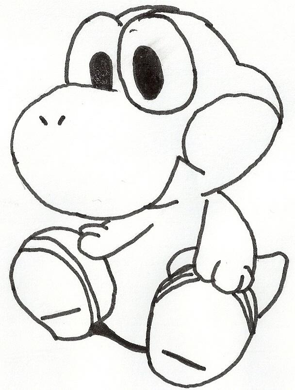 Kleurplaten Baby Mario.Kleurplaten Baby Yoshi Brekelmansadviesgroep