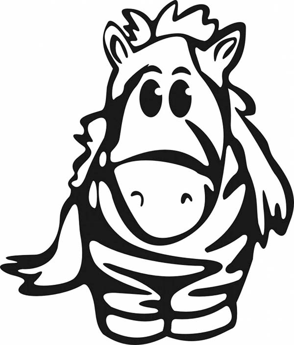600x704 Cute Baby Zebra Coloring Page