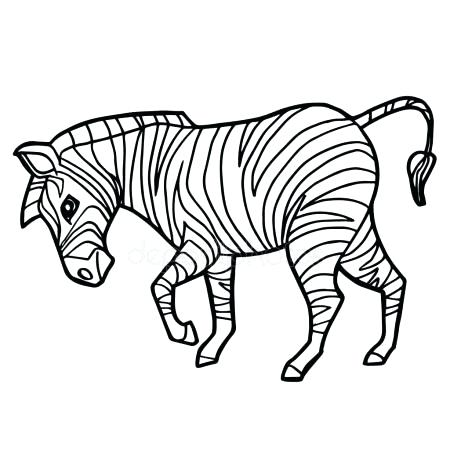 450x450 Cute Zebra Coloring Pages Cartoon Cute Zebra Coloring Page Vector