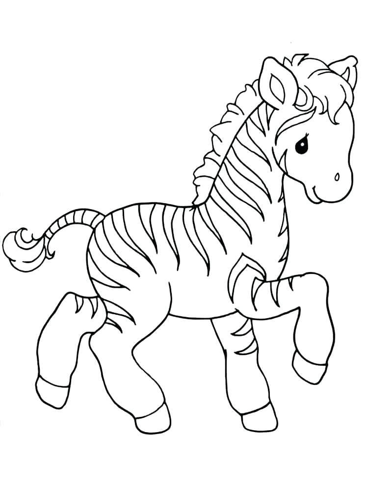 750x1000 Zebra Coloring Page Coloring Pages Animals Zebra 3 Baby Zebra