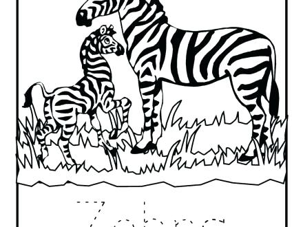 440x330 Coloring Pages Of Zebras Synthesis.site