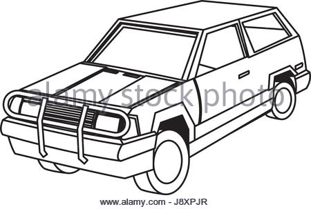 450x303 Vector Cartoon Car Rear Set 2. With Back View Of Six Different
