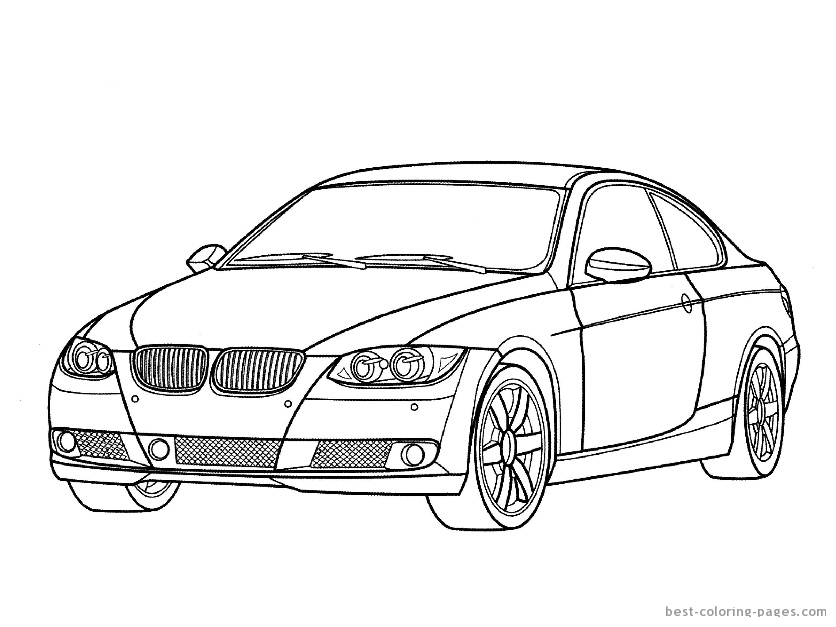 836x627 Pictures Of Cars To Color And Print Muscle Car Coloring Pages