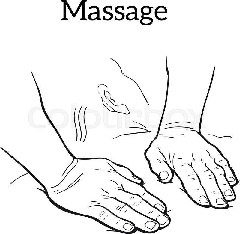 800x781 Hand Massage, Back Massage, Body Massage. Types Of Massage. Set