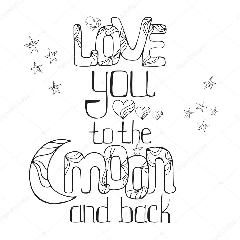 1024x1024 Love You To The Moon And Back Stock Vector Maroshka