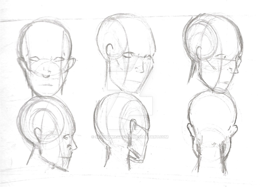 Back Of Head Drawing at GetDrawings.com | Free for personal use Back ...