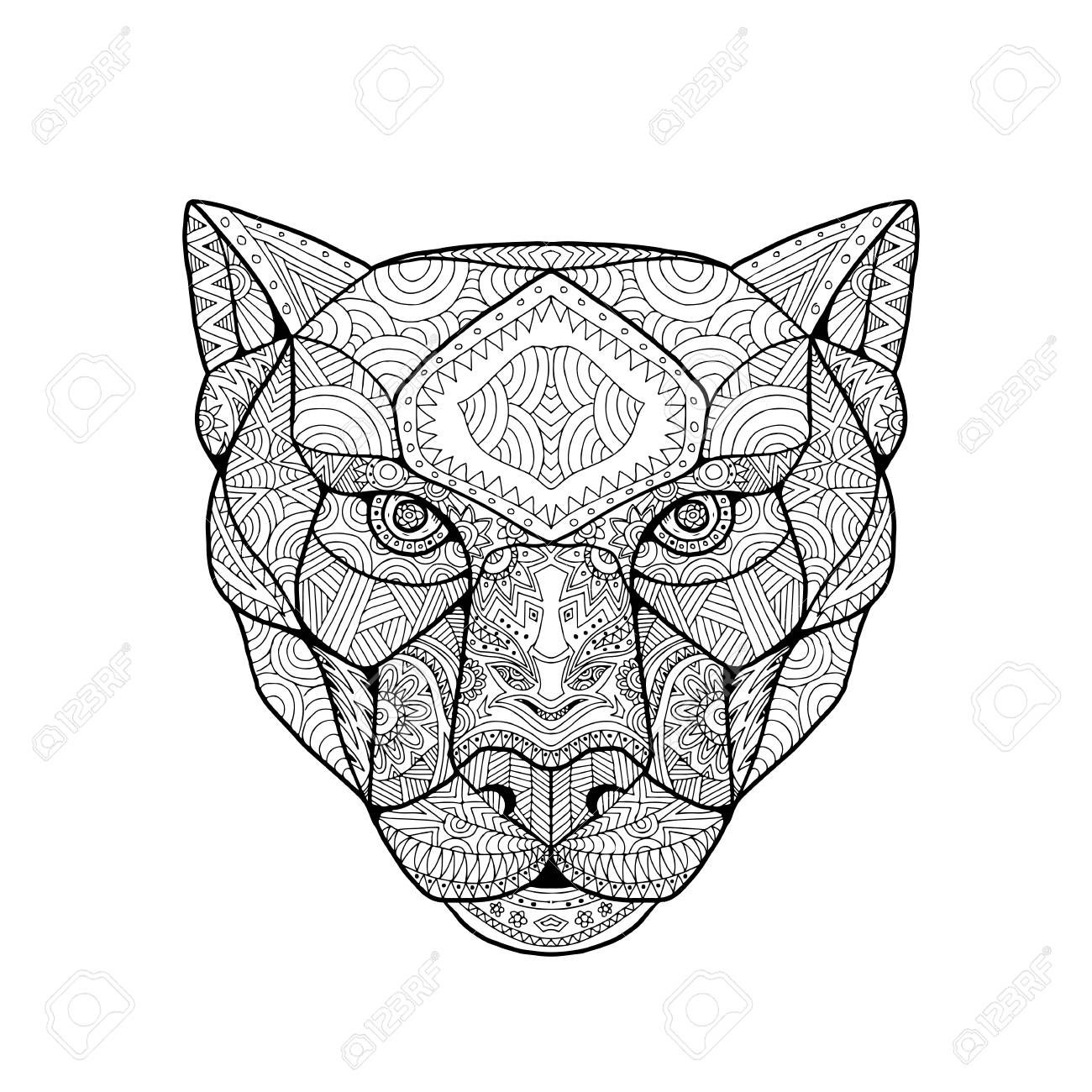 1300x1300 Inspired And Tangled Mandala, Illustration Of Head Of A Black