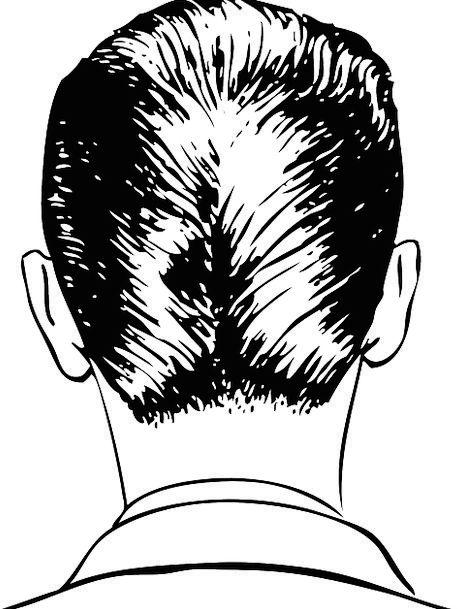 462x609 Man, Gentleman, Skull, Back Of Head, Head, Black And White, Hair