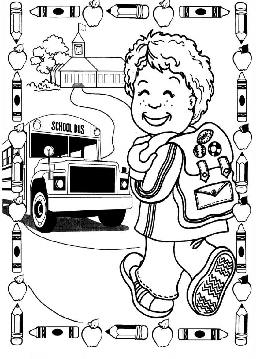 850x1170 Back To School Coloring Pages