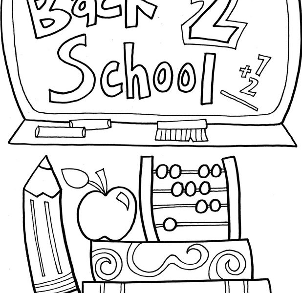 618x600 Coloring Pages Back To School Theme Back To School Coloring Pages