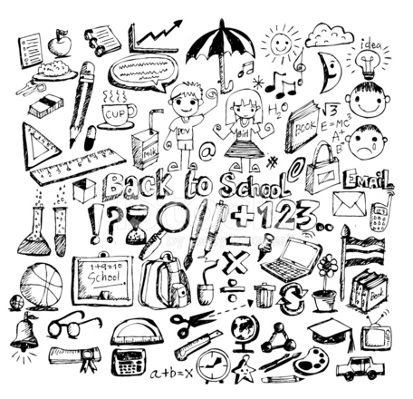 456x440 Drawing Items Back To School Stock Photos