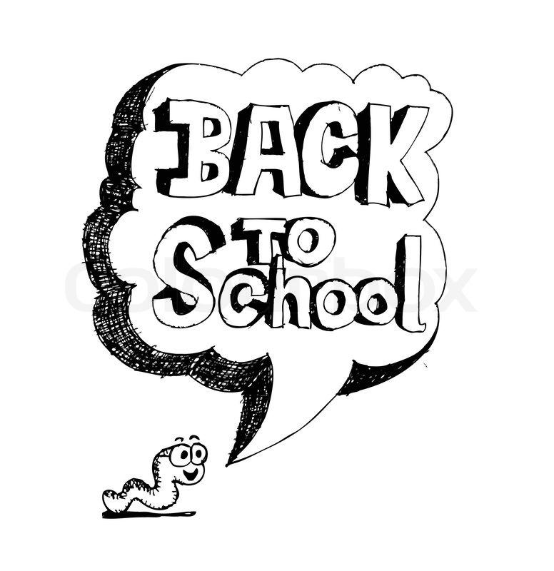 776x800 Drawing School Items Back To School Vector Illustration Stock