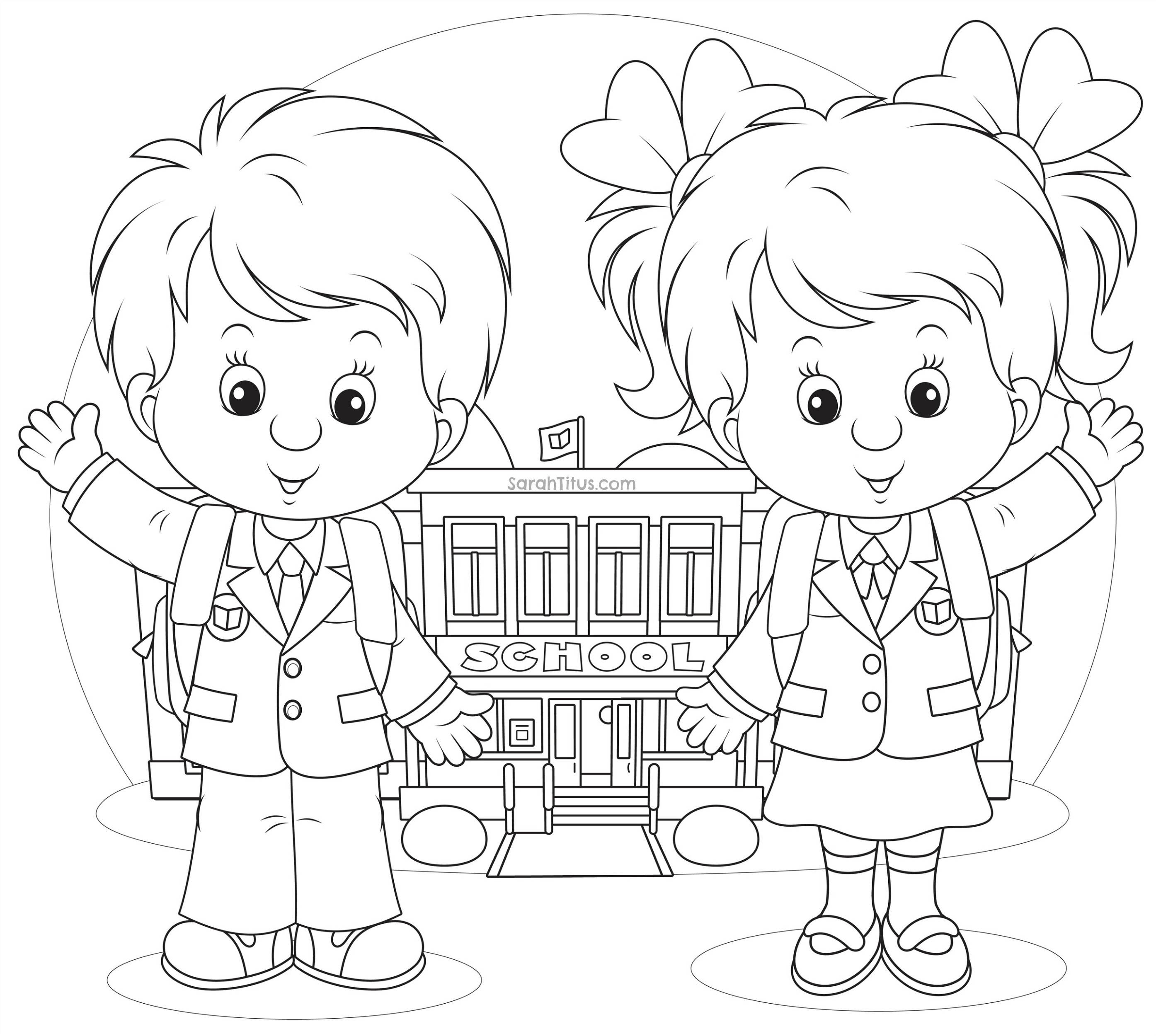 2789x2500 Gallery Coloring Pages For School Kids,