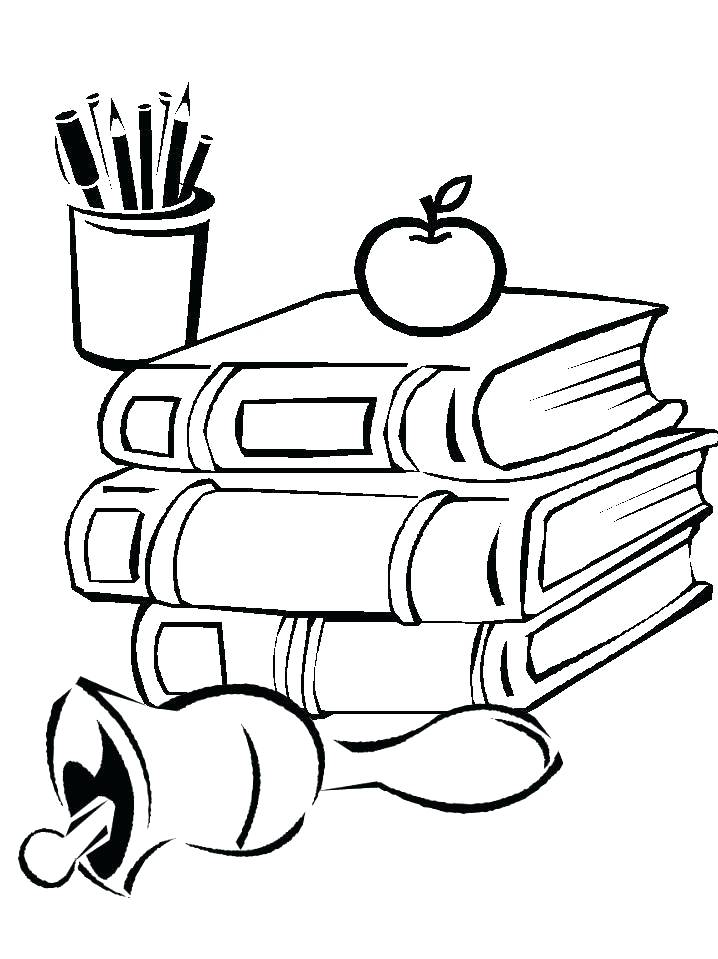 718x959 School Supplies Coloring Page Coloring Page School Equipment