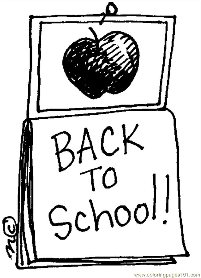650x897 Back To School Coloring Page