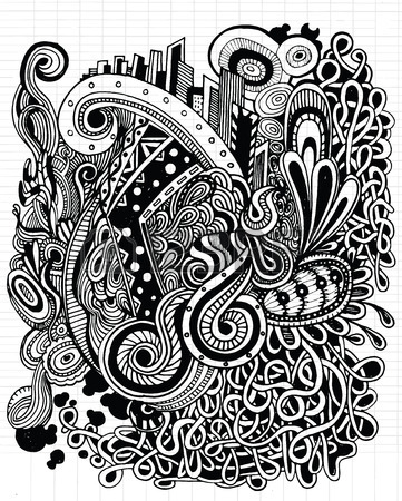 361x450 Doodle Hipster Pattern. Pattern For Your Design Wallpaper