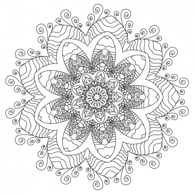 626x626 Mandala Background Design Vector Free Download