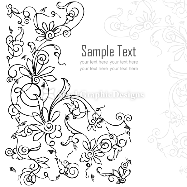600x600 Vector Floral Card Background Design Set 1 Vector Amp Photoshop