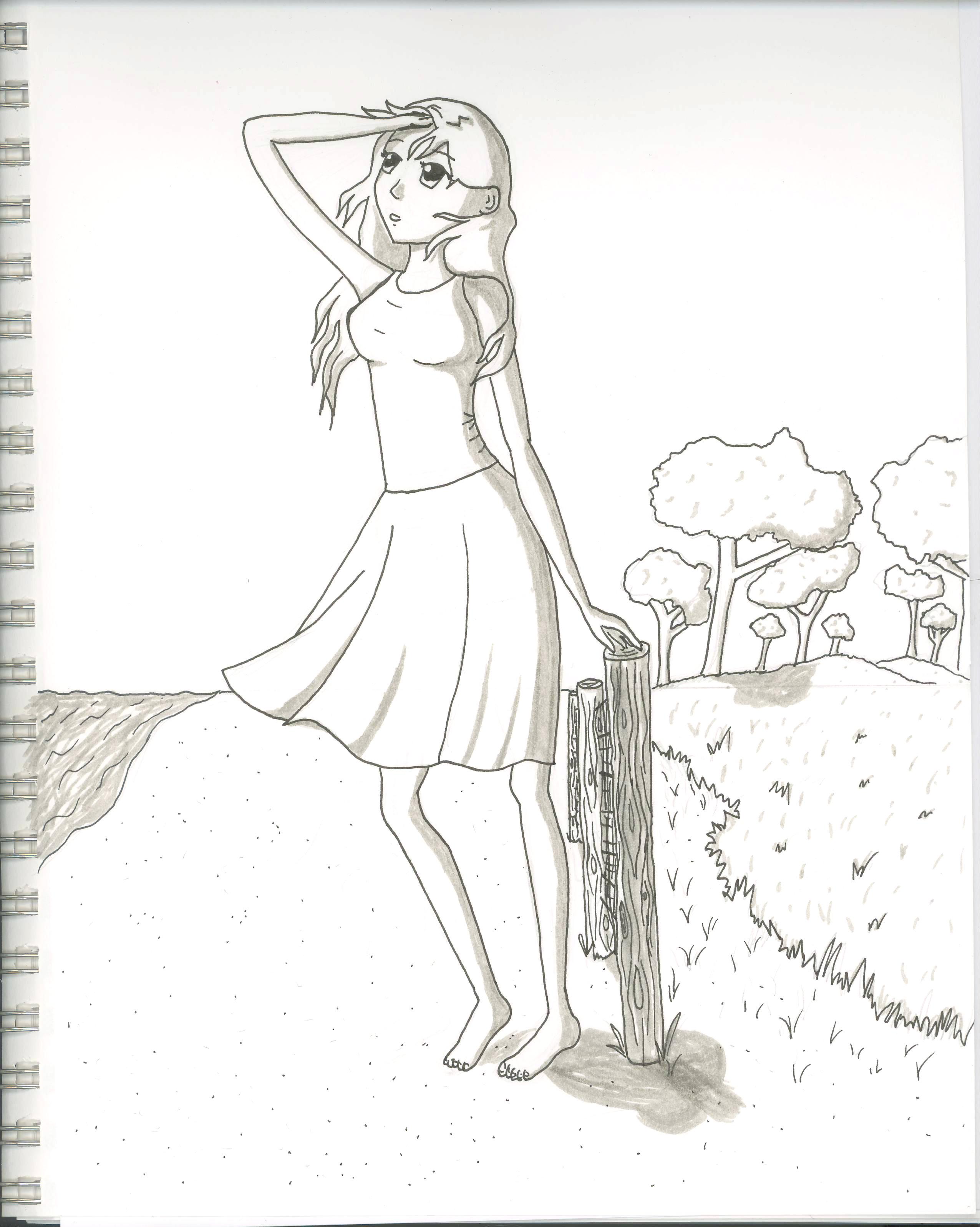 2551x3192 More Ink Drawings! Cricket's Drawings