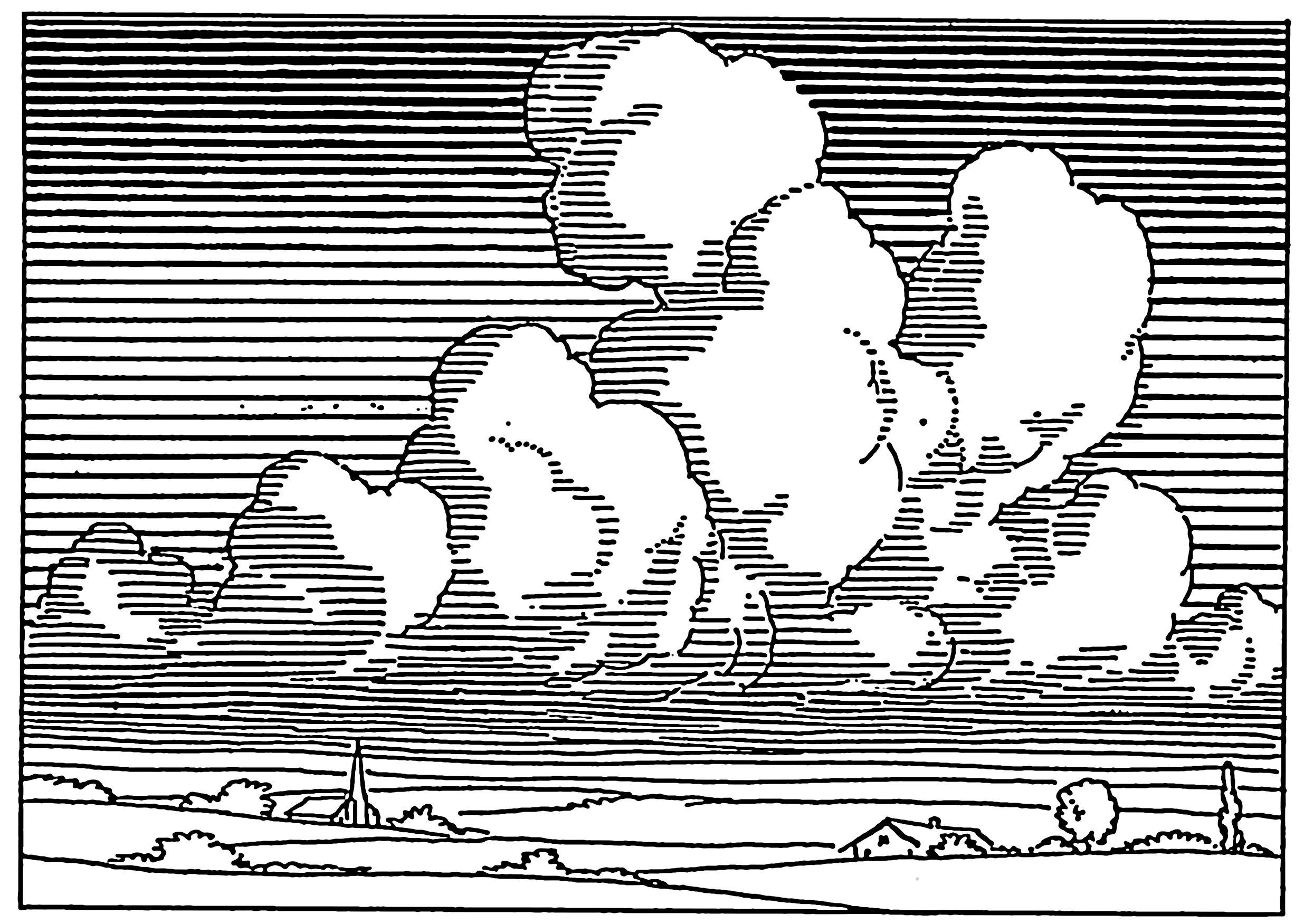 2471x1751 Cloud Drawing Black And White Cloud Drawing Tattoo