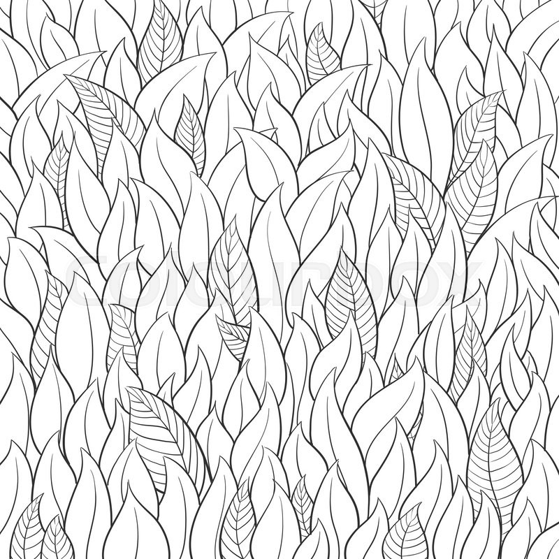 800x800 Outline Leaf Background On White Stock Vector Colourbox