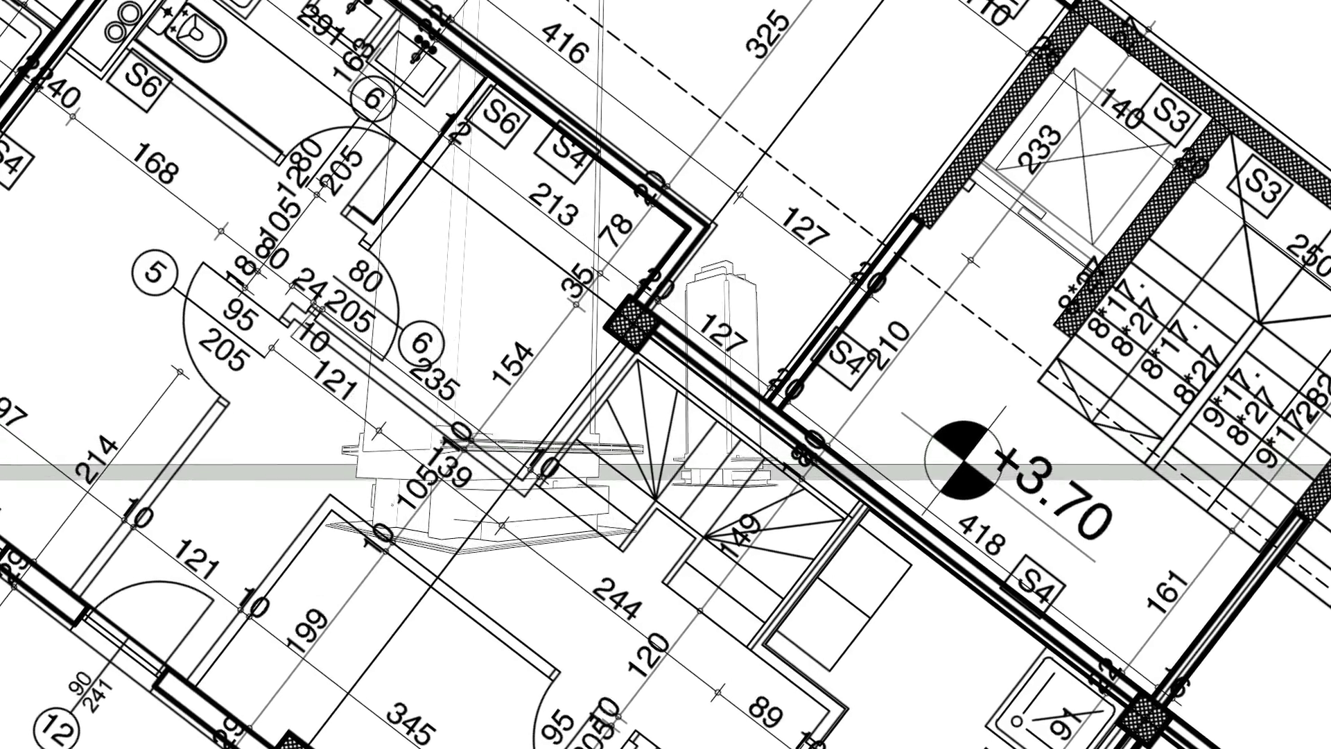 1920x1080 Abstract Architecture Background Blueprint House Plan With Sketch