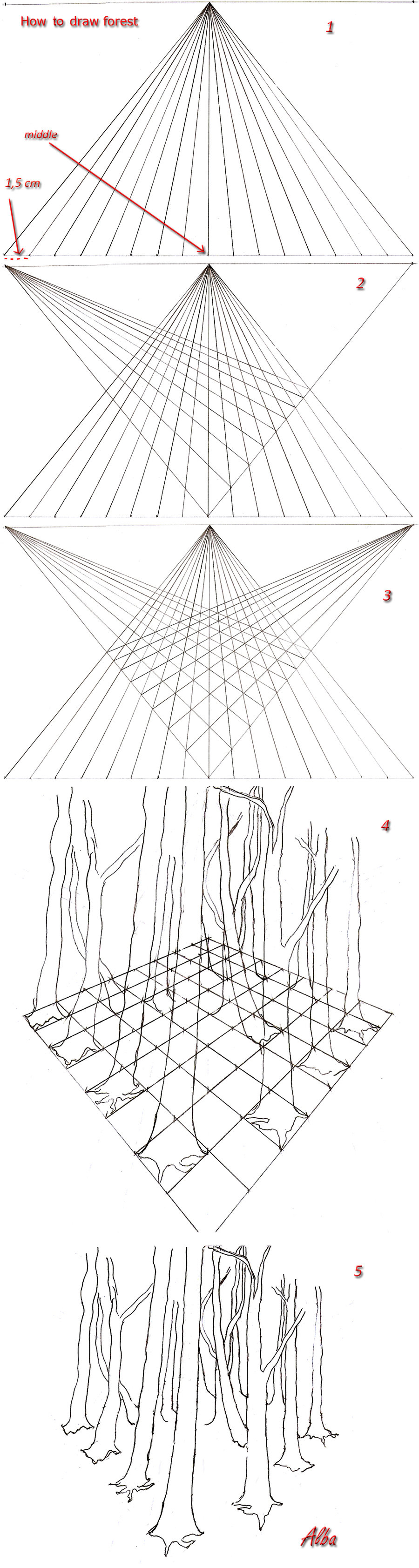 900x3368 Tutorial Background Forest On Drawing Tutorial