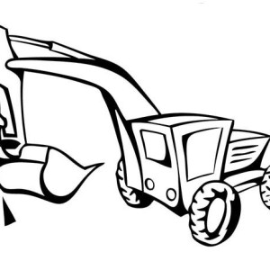 300x300 Backhoe Loader In Digger Coloring Page Backhoe Loader In Digger