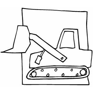 300x300 Backhoe Sketch Coloring Page