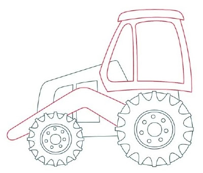 400x342 Cartoon Pictures How To Draw Backhoes In 11 Steps
