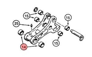 300x188 D127167 Coupler Bushing For Case Backhoe 580k 580sk 580l 580sl